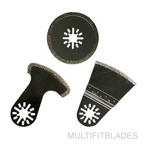 3 Diamond Oscillating Multi Tool Blades Fein Multimaster